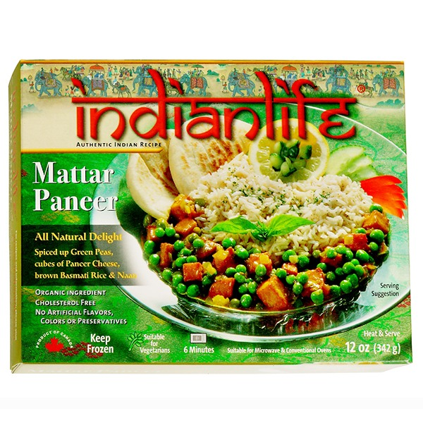 Bombay garbanzo bean curry entre indianlife foods inc mattar paneer with brown rice naan forumfinder Choice Image